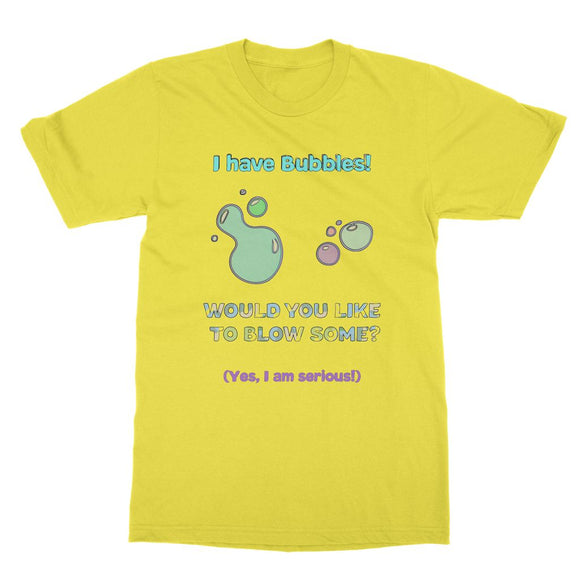 Blow some bubbles Softstyle Ringspun T-Shirt