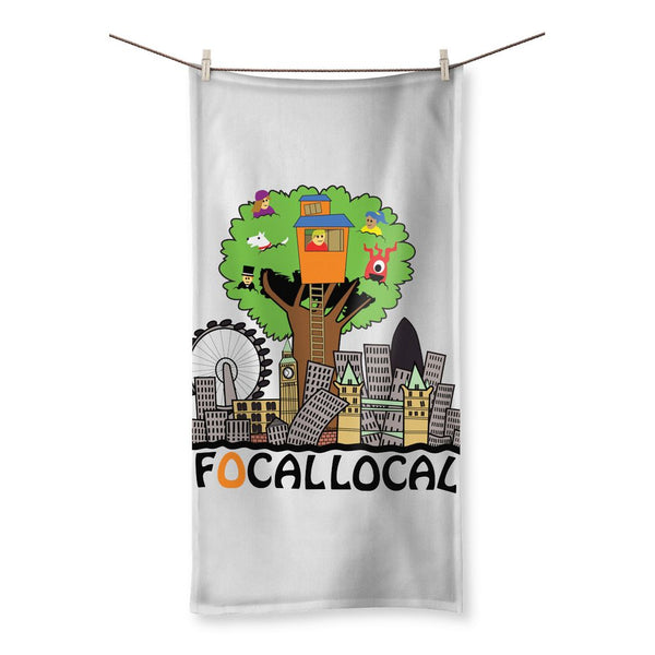 Focallocal Logo - Large Beach Towel