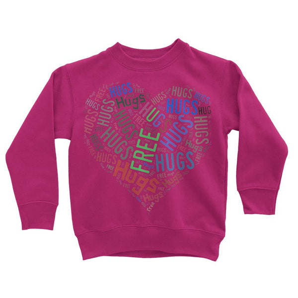 Hugs Tag Cloud - Darker print Kids' Sweatshirt