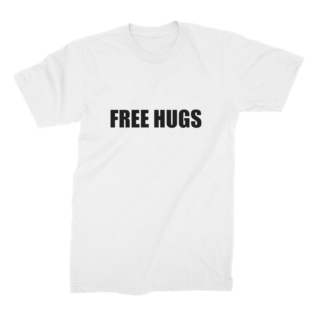 Free Hugs sign - Black Unisex Fine Jersey T-Shirt