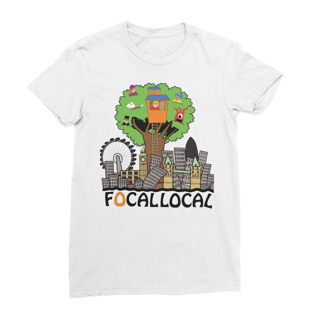 Focallocal Logo - Large Women's Fine Jersey T-Shirt