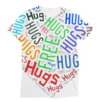 Hugs Tag Cloud Focused - Dark Sublimation T-Shirt