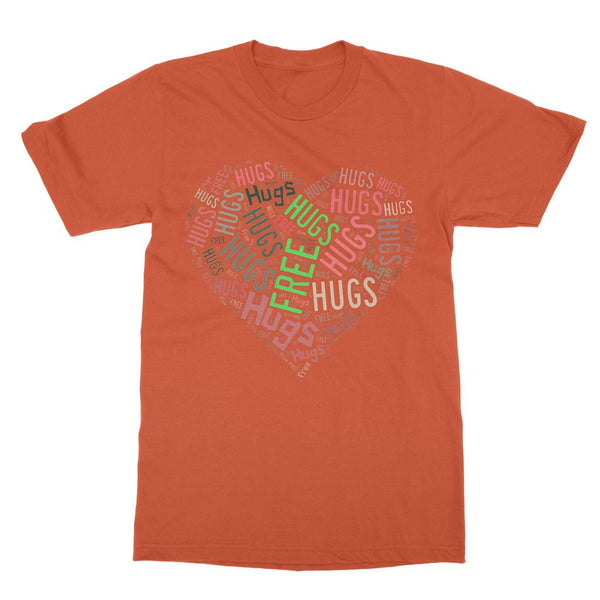 Hugs Tag Cloud Focused - Light Softstyle Ringspun T-Shirt
