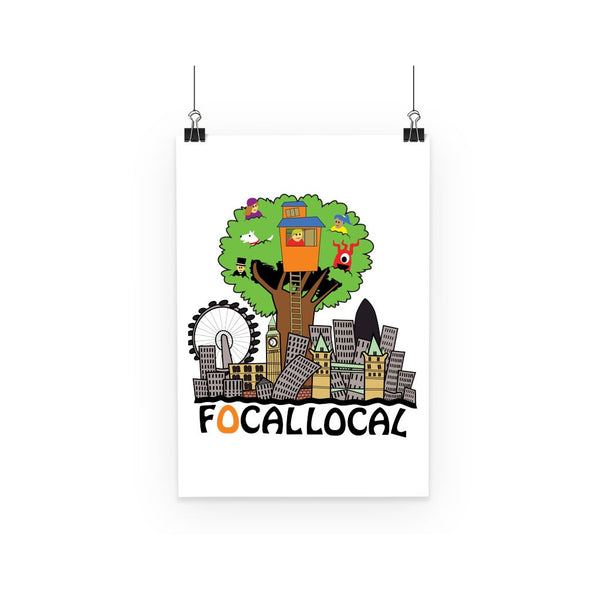 Focallocal Logo - Large Poster
