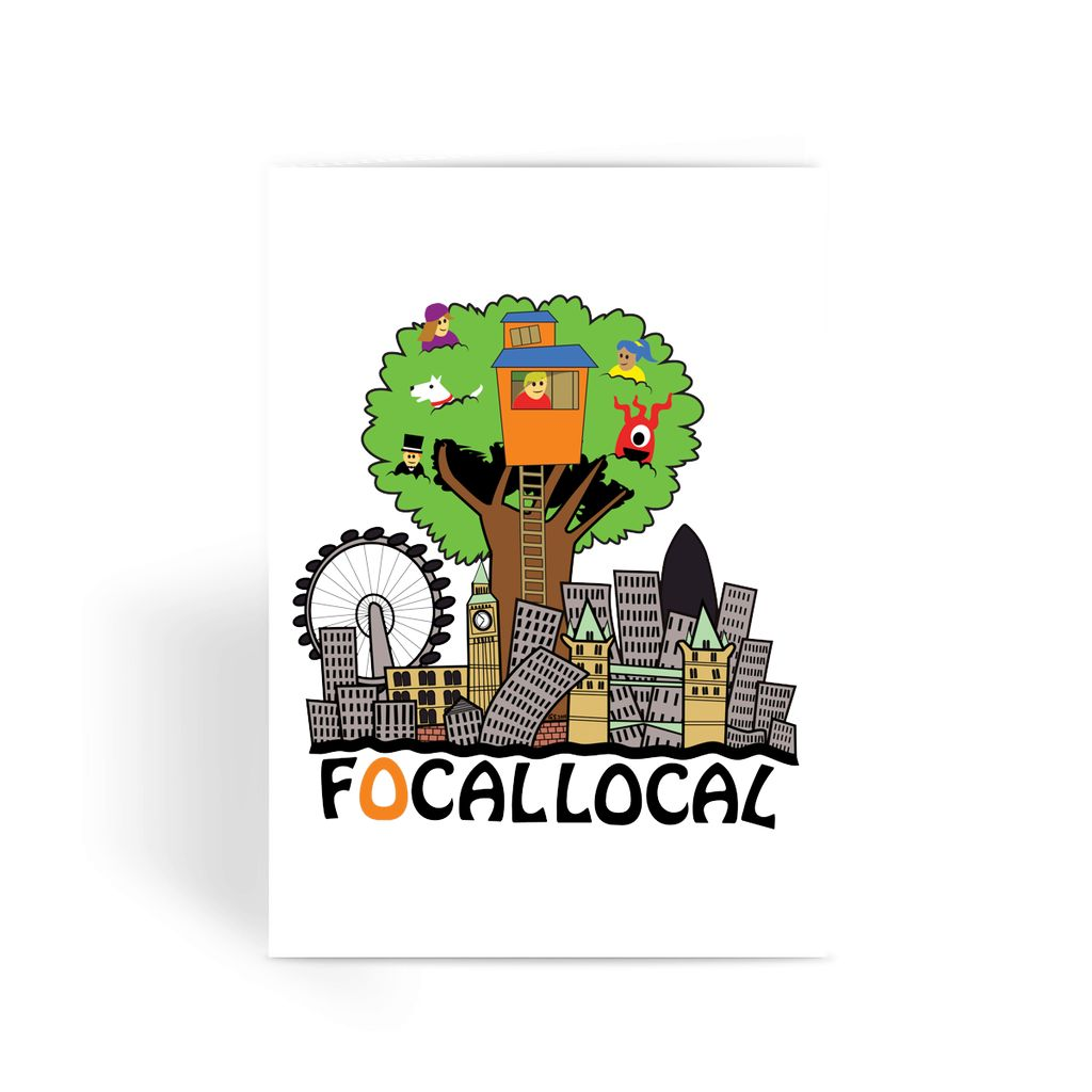 Focallocal Logo - Large Greeting Card