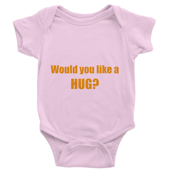 Would you like a Hug? sign - Orange Baby Bodysuit