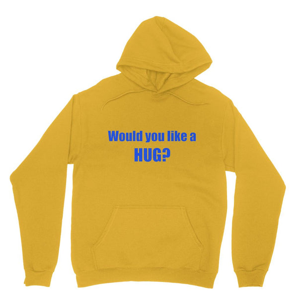 Would you like a HUG? sign - Purple Heavy Blend Hooded Sweatshirt