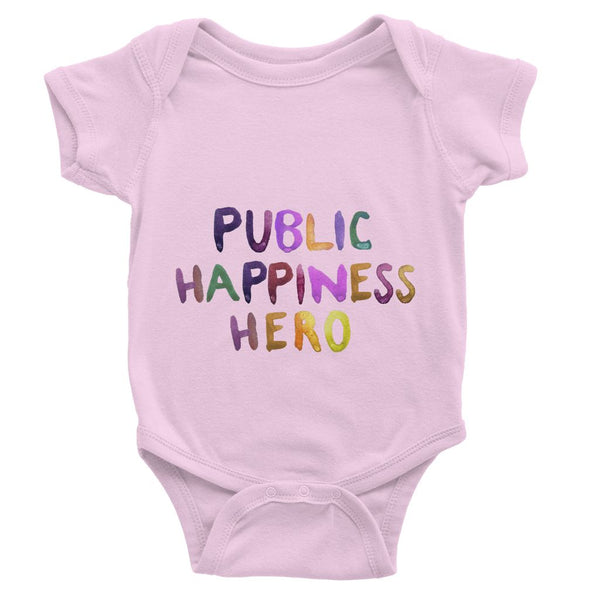 Public Happiness Hero - Large Baby Bodysuit