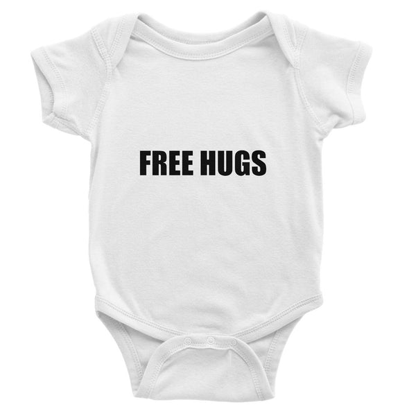 Free Hugs sign - Black Baby Bodysuit