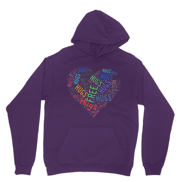 Hugs Tag Cloud Focused - Dark Heavy Blend Hooded Sweatshirt