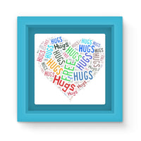 Hugs Tag Cloud Focused - Dark Magnet Frame