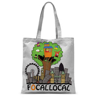 Focallocal Logo - Large Sublimation Tote Bag