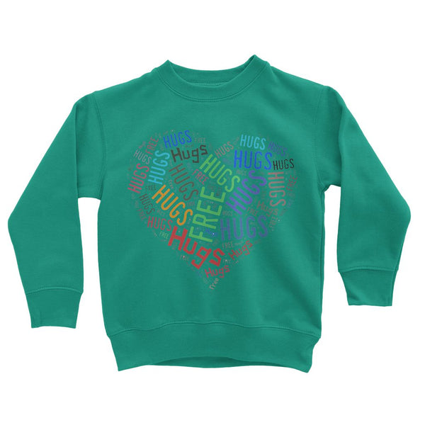 Hugs Tag Cloud Focused - Dark Kids' Sweatshirt
