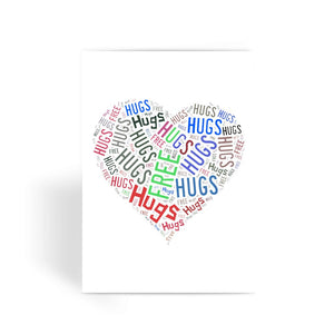 Hugs Tag Cloud - Darker print Greeting Card