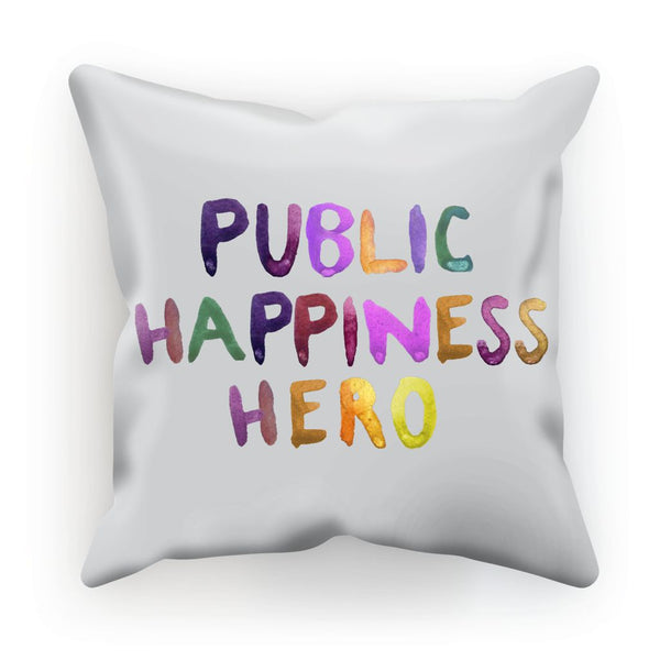 Public Happiness Hero - Large Cushion