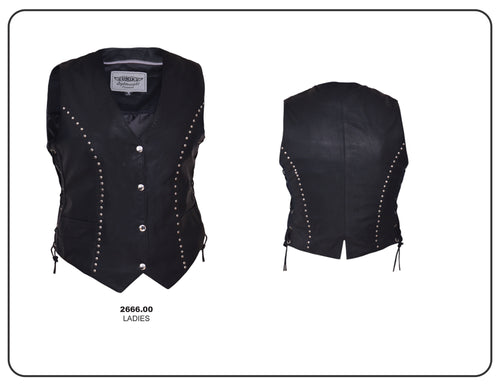 Ladies Lightweight Studded Vest, 2666.00