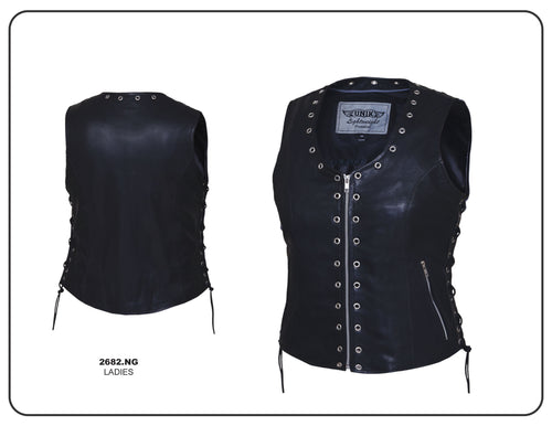 Ladies Zippered Eyelet Vest, 2682.00