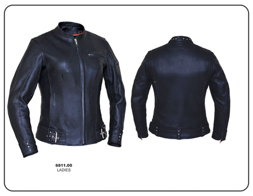 Ladies Premium Jacket with Buckle and Stud Detail, 6811.00