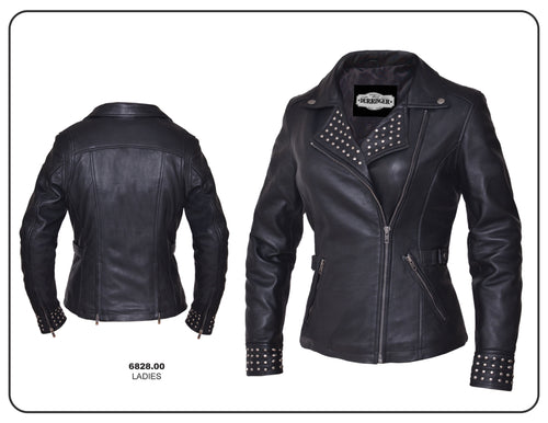 Ladies Derringer Studded Lambskin Jacket 6828.00