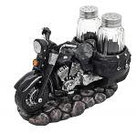 Black Motorcycle Salt & Pepper