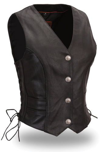 FIRST Classics Ladies Black Native Lacy Vest FIL538