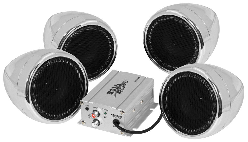 Boss 4 Chrome 1000 Watt Bluetooth Speakers