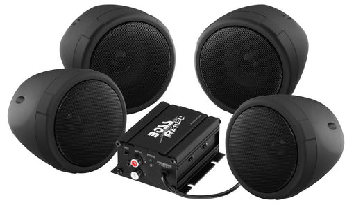 Boss 4 BlackChrome 1000 Watt Bluetooth Speakers