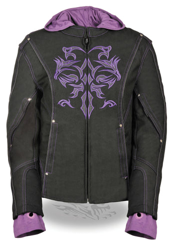 Ladies 3/4 Jacket w/ Reflective Tribal Detail SH1967