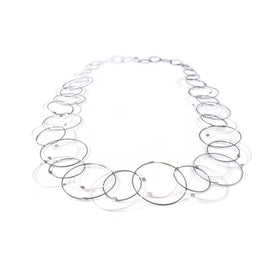 MPR: Interlocking Circles Necklace - Steel/Silver
