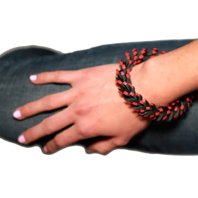 Tania Clarke Hall:: In A Twist Bracelet - Red & Black
