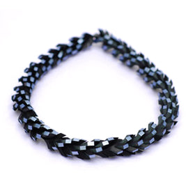Tania Clarke Hall:: Twisted Up Necklace - Pewter & Black