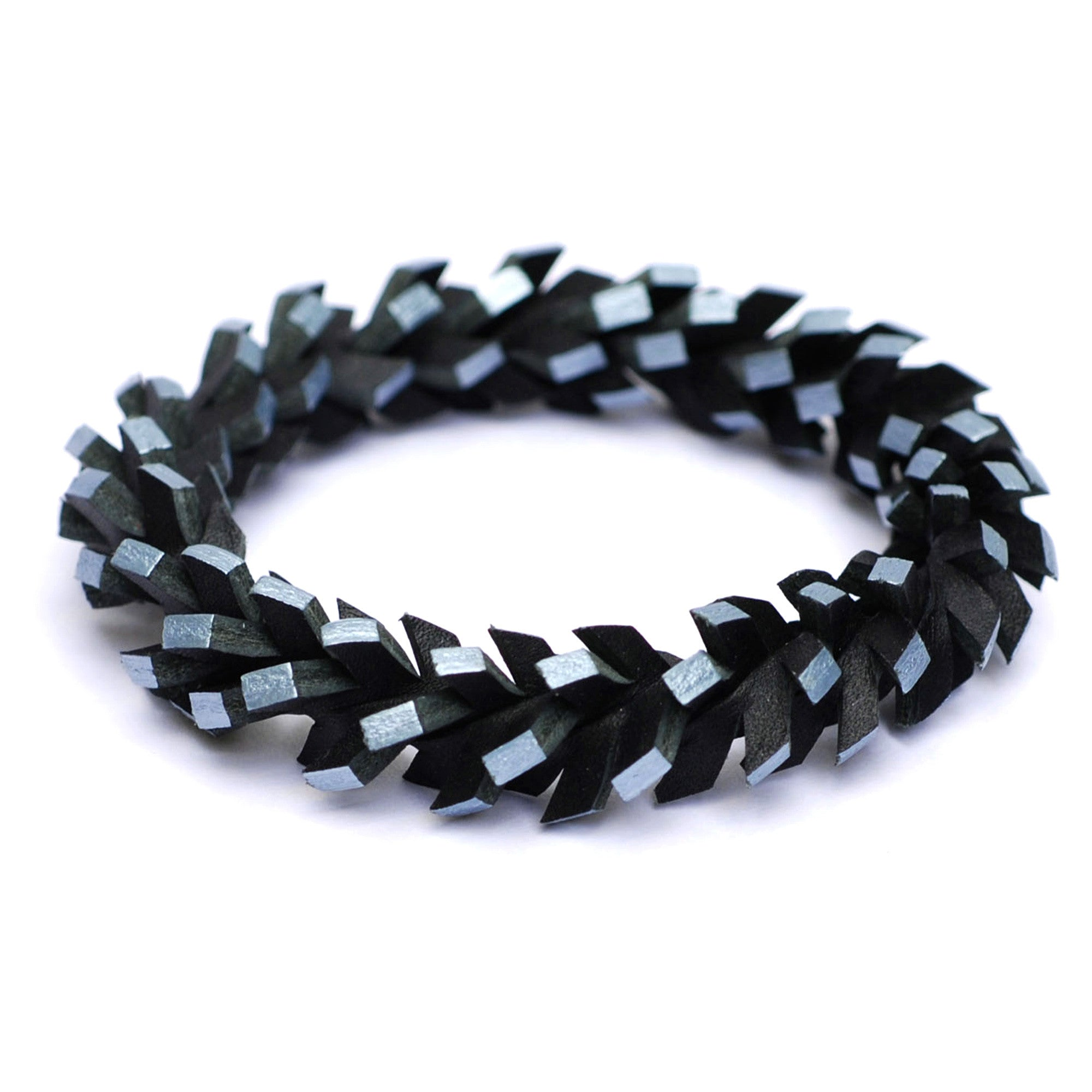 Tania Clarke Hall: In A Twist Bracelet - Pewter & Black