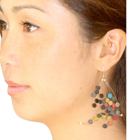 Dos Riberas: Wave Fabric Earrings - Cool