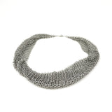 "OOOO Pascale Lion: ""Collection B"" Argente Chain Mail Necklace - 50 cm"