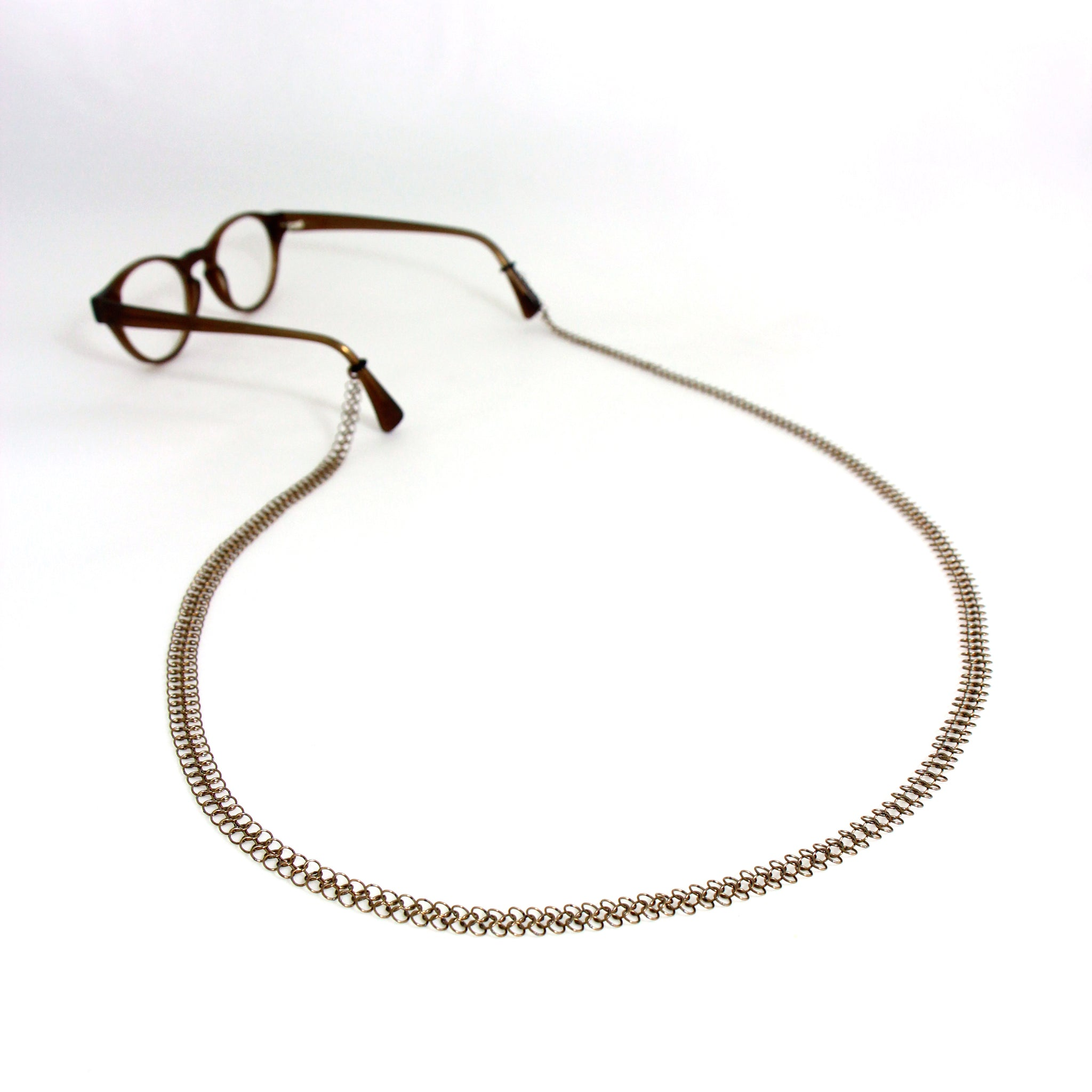 OOOO Pascale Lion: Argente Chain Mail Glasses Chain