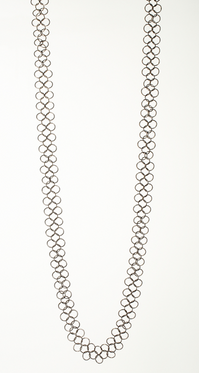 "OOOO Pascale Lion: ""Les Basiques"" Bronze Chain Mail Necklace - 115 cm  XL"