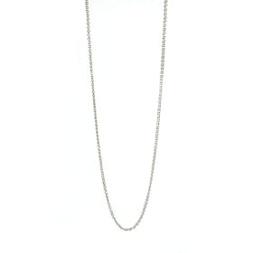 OOOO Pascale Lion: Hanae Argente Chain Mail Necklace - 114 cm