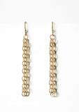 OOOO Pascale Lion: Hanae Dore Chain Mail Earrings - 6 cm
