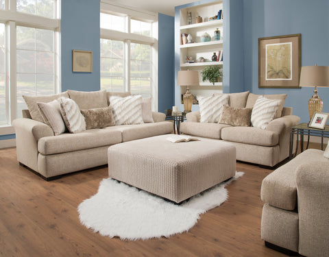 Khaki Sofa & Loveseat Set; 2 PCS. SET - Furnlander