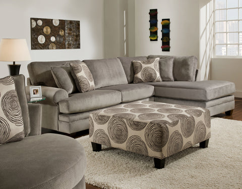 Gray Swirl Sectional Set - Furnlander