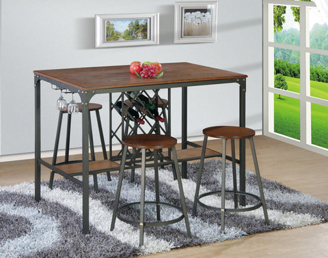 Lukas Counter Table Set;  Table + 4 Chairs  (5 PCS. SET) - Furnlander
