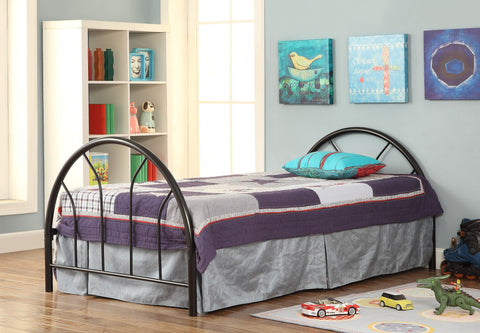 Black Metal Twin Bed (HB + FB + Rails) - Furnlander