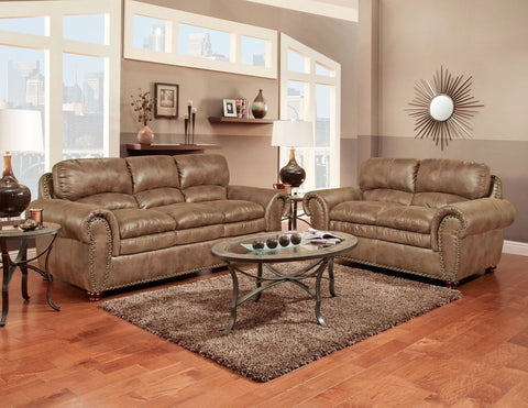 Arabella Almond Sofa & Loveseat Set;  2 PCS. SET