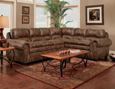 Arabella Espresso Sectional Sofa Set - Furnlander
