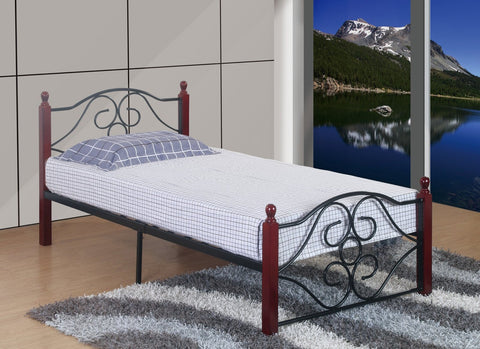 Kaden Twin Metal Bed - Furnlander
