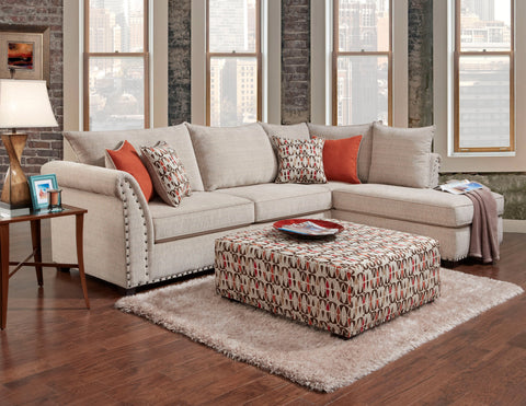 Patton Beige Sectional Sofa Set - Furnlander