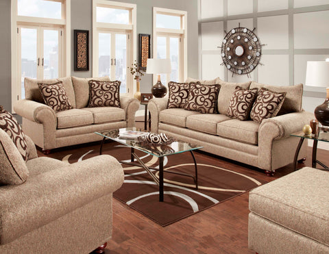 Reece Cafe Sofa & Loveseat Set;  2 PCS. SET