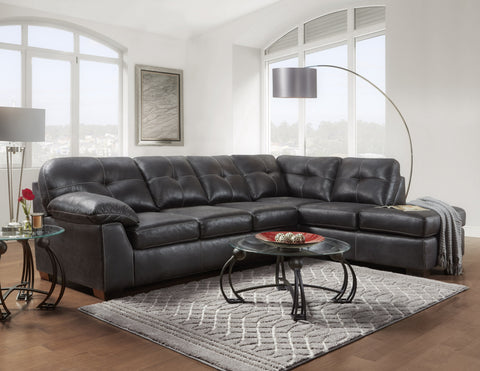 Nevada Black Sectional - Furnlander