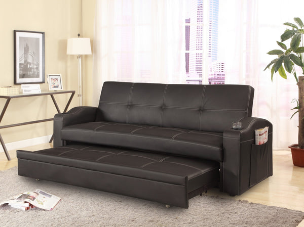 Alcott PU Sofa Sleeper - Furnlander