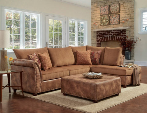 Padre Almond Sectional Sofa Set - Furnlander